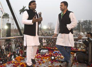 File image of Akhilesh Yadav and Rahul Gandhi | @INCIndia Twitter