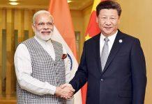 Prime Minister Narendra Modi with China's Xi Jinping