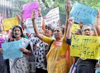 Women Protesting the Dilution of 498A. | Commons