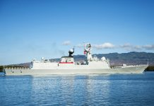 A Chinese Navy vessel. The Chinese Navy is building warships to add to its fleet much faster than imagined.