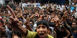 Mass protests in Kashmir