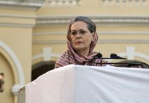 Sonia Gandhi at a Congress event. Pranab Mukherjee has said her role in the revival of the Congress has been understated