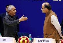 A file of photo Dineshwar Sharma (L) with Union finance minister Arun Jaitley in New Delhi