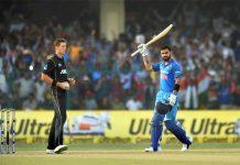 Virat Kohli on the field