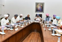 Punjab Chief Minister Amarinder Singh with his cabinet colleagues | Twitter