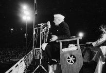 Nehru addressing a crowd