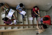 Admission aspirants filling forms in DU (representational image) | Photo by Saumya Khandelwal/Hindustan Times via Getty Images