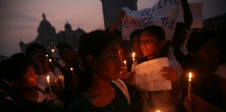 A candle light rally to protest against terror attacks in Mumbai at Gateway of India in 2008