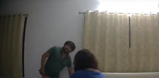 A screengrab from a video that purportedly shows Patidar leader Hardik Patel with a woman