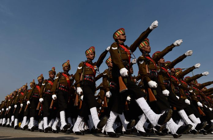 Indian Army marching at Rajpath