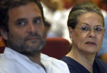 Sonia Gandhi and Rahul Gandhi at an event