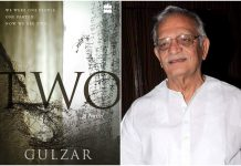 Cover of the book, 'Two' and author Gulzar
