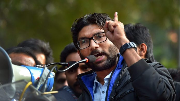 Jignesh Mevani addresses the 'Youth Hunkar'