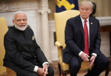 Modi and Trump sitting together