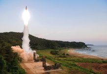 South Korea firing Hyunmu-2 ballistic missile