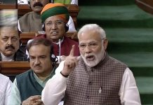 Prime Minister Narendra Modi speaks in the Lok Sabha
