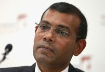 President Nasheed of the Maldives in London