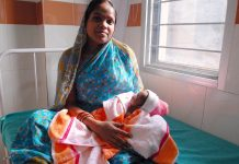 Mother and a new born child in Odisha