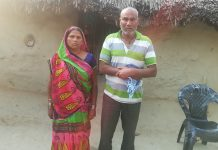 Nandlal Rajbhar with his wife