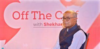 Digvijaya Singh at Off the Cuff event in Delhi