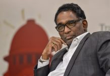 Supreme Court of India Justice Jasti Chelameswar during a book launch