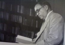 Dr. Babasaheb Ambedkar reading a book