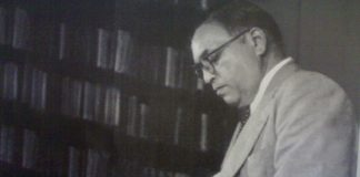 Dr. Babasaheb Ambedkar reading a book