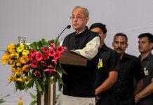 Former president Pranab Mukherjee speaks during the closing ceremony of Tritiya Varsha Sangh Shiksha Varg, an RSS event in Nagpur, Thursday