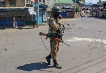 A CRPF personnel in Srinagar | S. Irfan/PTI