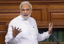Prime Minister Narendra Modi speaks in the Lok Sabha on no-confidence motion | PTI