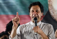 Imran Khan, chairman of Pakistan Tehreek-e-Insaf, in Lahore | Asad Zaidi/Bloomberg