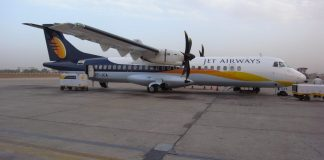 A Jet Airways aircraft at an airport. Under the UDAN scheme, the government has reached out to private airlines to operate between smaller cities | Commons