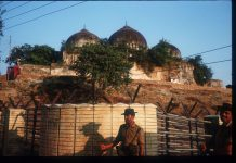 An exterior view of Babri Masjid