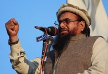 File photo of Jamaat-ud-Dawa head Hafiz Saeed | Rana Sajid Hussain/Pacific Press/LightRocket via Getty Images
