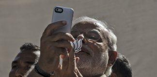 Prime Minister Narendra Modi in Ahmedabad, 2014 | Kevin Frayer/Getty Images