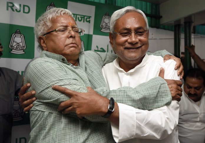 Just like themahagatbandhanof the 2015, a Lalu-Nitish alliance is beneficial to both | Arun Sharma/Hindustan Times via Getty Images