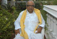 File photo of M. Karunanidhi at his Chennai residence   Hk Rajashekar/The India Today Group/Getty Images