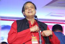 Shashi Tharoor at a conference