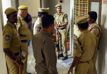 Police personnel stand on vigil at the residence of poet and social activist Varavara Rao | PTI