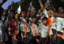 Bajrang Dal volunteers   SAM PANTHAKY/AFP/GettyImages
