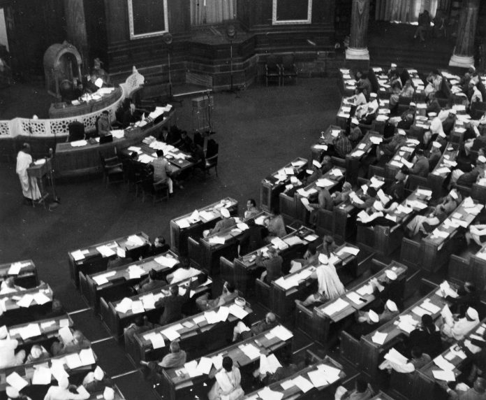 Allama Raghib Ahsan was elected to the Indian Constituent Assembly (above) in 1946 | Popperfoto/Getty Images