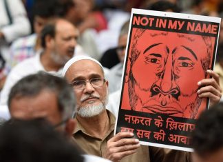 A protest against lynchings