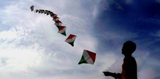 Boy flying kite on Independence Day | Commons