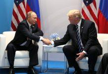 Donald Trump with Vladimir Putin
