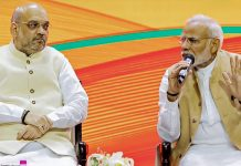 Prime Minister Narendra Modi and BJP President Amit Shah during BJP national executive meet | PTI