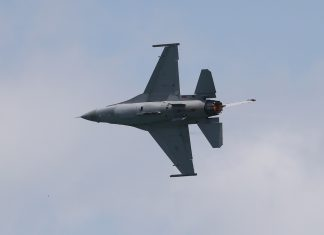 An F-16 fighter jet