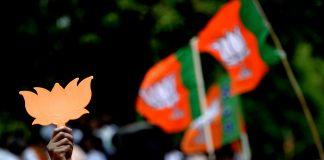 Representational image of BJP flags | Arun Sankar/AFP/Getty Images