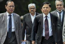 Chief Justice of India Dipak Misra with Supreme Court Judge Ranjan Gogoi (L)   Arun Sharma/PTI