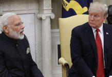 Donald Trump with Narendra Modi