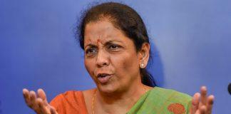 Nirmala Sitharaman addresses a press conference in New Delhi | Ravi Choudhary/PTI